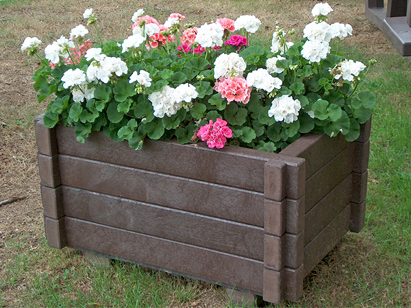 A flower planter in Trowell